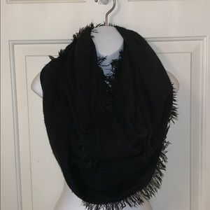 Charming Charlie Black infinity Scarf
